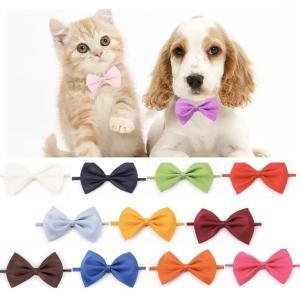 ペット用首輪 小型犬用首輪 猫用首輪 いぬ首輪 ねこ首輪 単純デザイン パーティリボン 首輪リボンえ