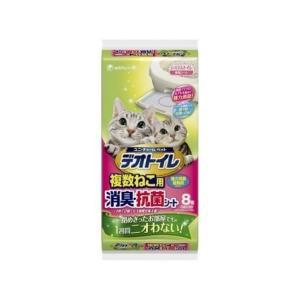[ユニ・チャーム] デオトイレ 複数ねこ用消臭・抗菌シート 8枚