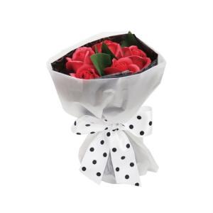 RED ローズブーケ S【花 バスフレグランス 入浴剤 ソープフラワー ギフト バレンタイン ホワイトデー 入学 卒業祝】|maruhana-flower