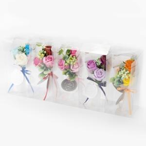 バスフラワーミニブーケROSE【花 バスフレグランス 入浴剤 ソープフラワー ギフト 御祝 お礼 誕生日 結婚祝 二次会 バレンタイン 卒業 入学】|maruhana-flower