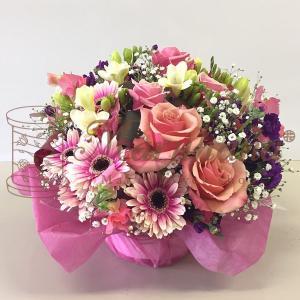 オリジナルフラワーギフトアレンジメント M【送料無料】生花アレンジメント 花 ギフト maruhana-flower