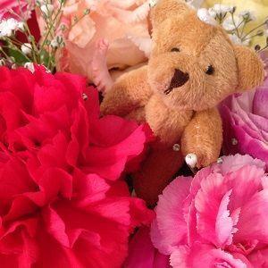 生花 アレンジメント『フラワーベア』【送料無料】 maruhana-flower