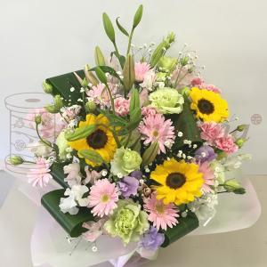お供えアレンジメントL【送料無料】生花アレンジメント お供え・お悔やみに贈る花 フラワー maruhana-flower