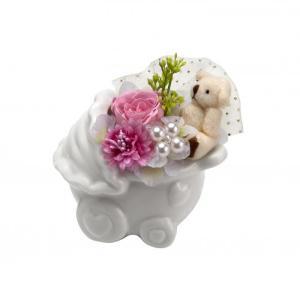 プリ雑貨 ベビーカー ピンク【花 ギフト フラワー】 maruhana-flower