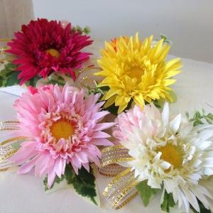 フラワーマグネット M ガーベラ アーティフィシャルフラワー【送料無料】|maruhana-flower