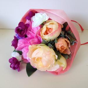 『スプリングブーケ』ピンク アーティフィシャルフラワー【送料無料】花 フラワー 枯れない 開業祝 開店祝 移転祝い お誕生日 各種ギフト お供え|maruhana-flower