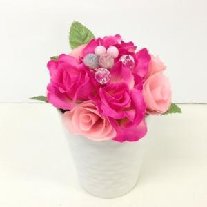 『ローズカップ』 ピンク アーティフィシャルフラワー【送料無料】|maruhana-flower