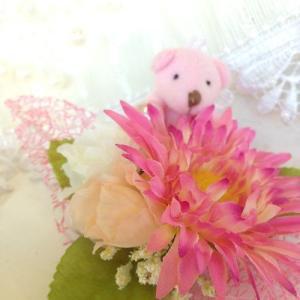 『ロマンチックハート ピンクベア』アーティフィシャルフラワー【送料無料】|maruhana-flower