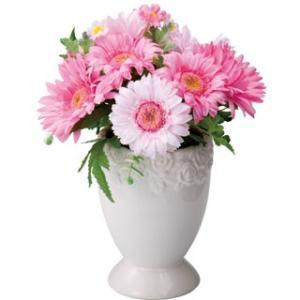 ガーベラポット L ピンクビューティー【送料無料】アーティフィシャルフラワー|maruhana-flower
