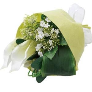 カラーリリーミックスブーケ グリーンホワイト 【送料無料】アーティフィシャルフラワー 枯れない 開業祝 開店祝 移転祝い お誕生日 各種ギフト お供え|maruhana-flower