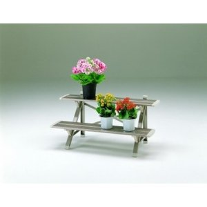 ピカ フラワースタンド シルバー2段 正面幅90cm FSA-K92S|maruhana-flower