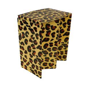 携帯紙椅子(L)SMART PAPER STOOL SPS-L01(ヒョウ柄)ピカコーポレイション アウトドア チェア レジャー 折りたたみ椅子|maruhanashop