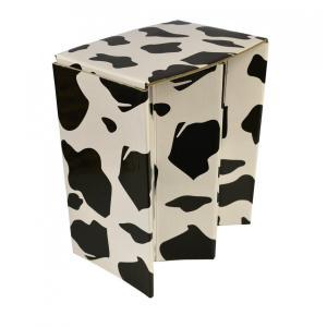 携帯紙椅子(L)SMART PAPER STOOL SPS-L02(うし柄)ピカコーポレイション アウトドア チェア レジャー 折りたたみ椅子|maruhanashop