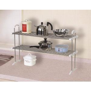 伸縮ステンレス整理棚 TOS-10 平安伸銅工業 キッチン 収納 つっぱり ラック 簡単設置|maruhanashop
