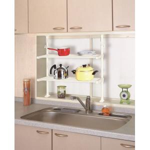突ぱりキッチンスマートラック TOS-6 平安伸銅工業 キッチン 収納 つっぱり ラック 簡単設置|maruhanashop