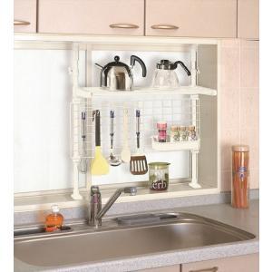 突ぱりキッチン機能ラック TOS-7 平安伸銅工業 キッチン 収納 つっぱり ラック 簡単設置|maruhanashop