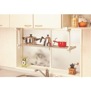 1段吊り下げキッチン棚 TK-1  平安伸銅工業 キッチン 収納 つっぱり ラック 簡単設置|maruhanashop