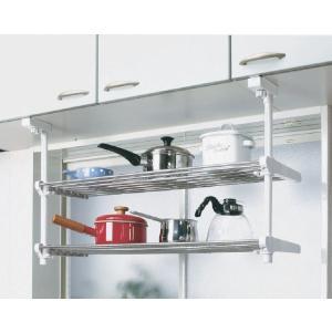 2段吊り下げキッチン棚 TK-2  平安伸銅工業 キッチン 収納 つっぱり ラック 簡単設置|maruhanashop