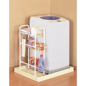 洗濯機サイドラック 白 CW-86 平安伸銅工業|maruhanashop