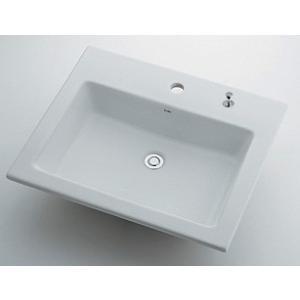 角型洗面器//1ホール・ポップアップ独立つまみタイプ 493-008H カクダイ maruhanashop