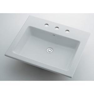 角型洗面器//3ホール 493-009 カクダイ maruhanashop