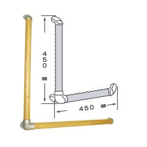 いたわり エコ手すり ディンプルL型450*450 SO-TD5-450|maruhanashop