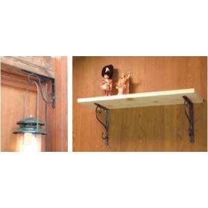 鍛冶屋の棚受150x200 KJ-150BS 1本 アンティーク調 手作り 棚受け金具 おしゃれ|maruhanashop|02