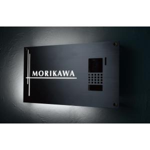 LED表札ステンレス板切抜きLEK-8福彫 maruhanashop