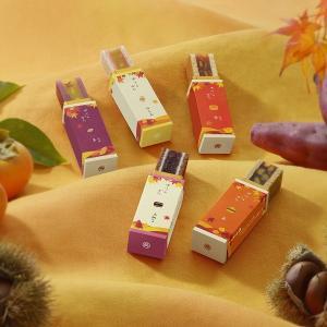 ■説明 しっとりとした焼皮の「柿」、ほっこり素朴な羊羹の「芋」、ほんのり秋の風味薫る「栗」  3種類...