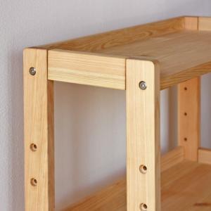 オープンラック FSスタンド60 国産ひのき無垢 天然木製 収納 本棚 ブックシェルフ 日本製 送料無料|marui-kagu|02