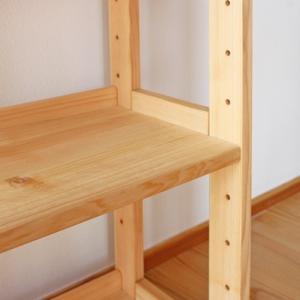 オープンラック FSスタンド60 国産ひのき無垢 天然木製 収納 本棚 ブックシェルフ 日本製 送料無料|marui-kagu|03