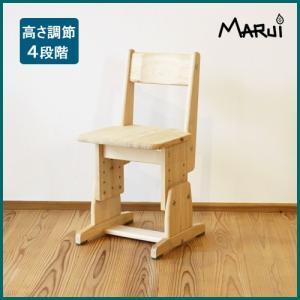 スクールチェア 国産ヒノキ無垢 オイル仕上げ 天然木製 学習机椅子 新JIS規格 日本製 |marui-kagu