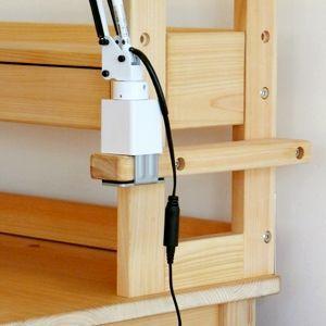 ひのきデスクライトバー クランプ式デスクライト 取付補助板 ヒノキデスクスタンド用 桧学習机 日本製