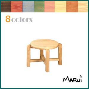 キッズ丸スツール20 カラー8色対応 国産ヒノキ無垢 オイル塗装 天然木製 子供椅子 スタッキングチェア 日本製|marui-kagu