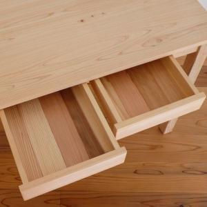 ヒノキテーブル片面引出しユニット 〔片面2個、計2個〕 プレーン・ナチュラル・ベンチテーブル・Pデスク用 日本製 marui-kagu