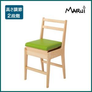 国産ひのき無垢 リッチチェア〔キッズ〕 選べる15色 天然木製 学習椅子 ダイニングチェア 日本製 送料無料|marui-kagu