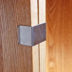 ジョイント金具 つみかさねラック専用 タモ無垢 ウォールナット無垢 天然木製ラック 連結 ズレ防止