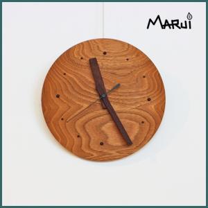 天然木壁掛け時計 クルミ 無垢 直径21.5cm ハンドメイド ウォールクロック ウォッチ 新築祝い 就職祝い 入学祝い ギフト 日本製|marui-kagu