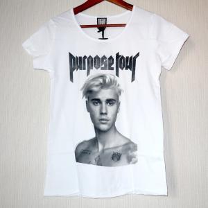 アンプリファイド ジャスティンビーバー パーパスBW レディスTシャツです。  Amplified(...