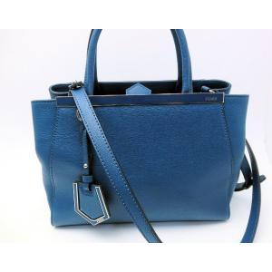 FENDI フェンディ プチトゥージュール ブルー 2WAYショルダーバック|marujyu78-brand