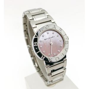 BVLGARI ブルガリ BB26SS シェル文字盤 12PD ダイヤ レディース 腕時計 クオーツ 電池式|marujyu78-brand