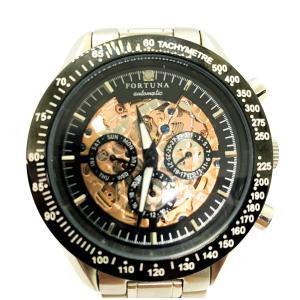 FORTUNA フォルトナ メンズ スケルトン 腕時計 自動巻 AT|marujyu78-brand