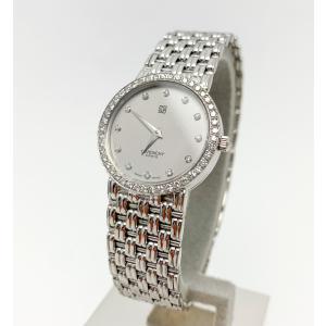 GIVENCHY ジバンシー 750 18金ホワイトゴールド 金無垢 12PD ダイヤベゼル レディース 腕時計 クオーツ 電池式|marujyu78-brand