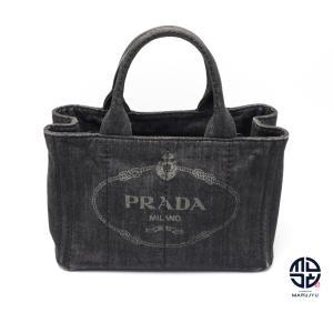 PRADA プラダ デニム ミニカナパトート 2WAYショルダーバック|marujyu78-brand
