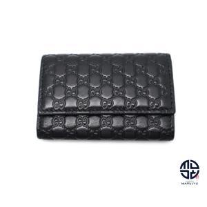 GUCCI グッチ 黒 レザー マイクログッチ キーケース6連|marujyu78-brand