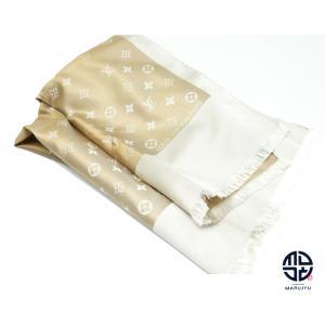 LOUIS VUITTON ルイヴィトン エシャルプ カプリ ベージュ シルク100% スカーフ ストール|marujyu78-brand