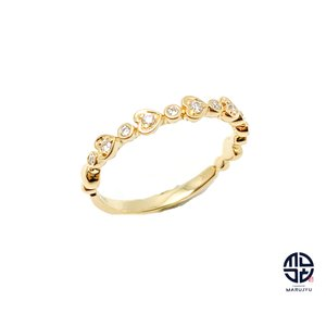 Ponte Vecchio ポンテヴェキオ K18 18金イエローゴールド ダイヤモンド リング 指輪 ダイヤ0.10ct marujyu78-brand