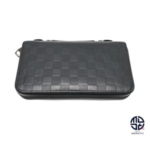 LOUIS VUITTON ルイヴィトン ダミエ アンフィニ ジッピーXL メンズ N61254 長財布 サイフ セカンドバック|marujyu78-brand