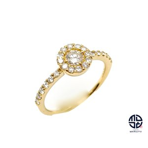 K18 18金イエローゴールド ダイヤモンド リング 指輪 D0.50ct 9号 marujyu78-brand