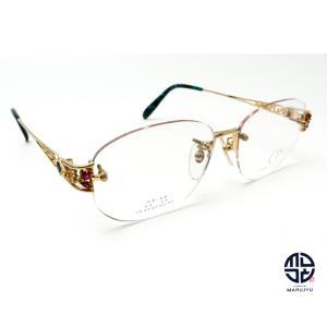 京セラ CRESCENT VERT クレサンベール CV-68 K18Dec 一部18金 メガネ 眼鏡 フレーム 合成ルビー ダイヤモンド marujyu78-brand